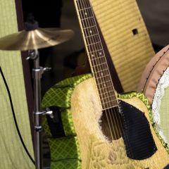 Гитара из поюзанного татами...